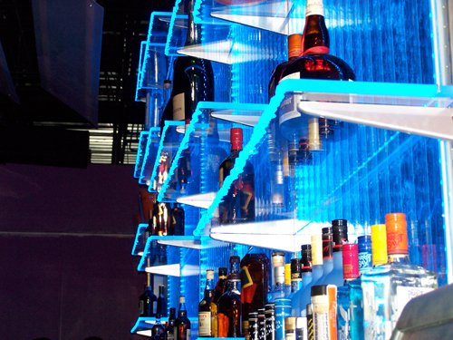 Liquor Display Bar Shelves Bottle Display Led